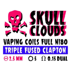 SKULL CLOUDS TRIPLE FUSED CLAPTON 0.15
